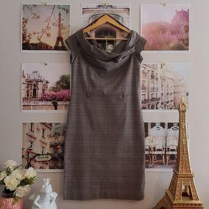 Le Château 40s-inspired Plaid Bow Pencil Dress